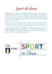 Progetto Sport di classe
